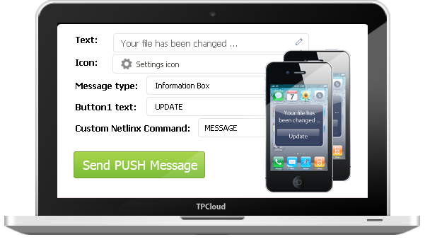 Send PUSH notifications to apply updates easily